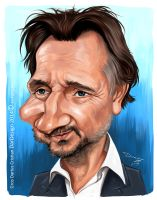 Liam Nesson Caricature by DarDesign