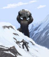 snow beast by scuttered