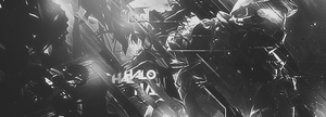 Halo Black And White by Cyrux-gfx