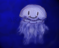Happy Lil' Jellyfish by meowsap