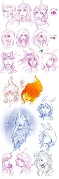 Adventure Time sketches by ArtInCase