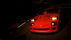 Racing my F40 by RaynePhotography