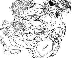 Fusion team vs Broly by TicoDrawing