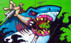 Shark Canvas by RietOne