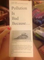 Pollution is bad because... by LandNarwals