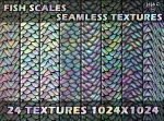 Fish scales seamless textures by jojo-ojoj