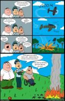 A Plane Accident, a Family Guy comic by Cartoon-Admirer