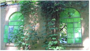 Stain Glass Jungle Ruins by CrystalMarineGallery
