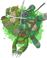 Lean Green Ninja Team by pdxyz