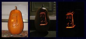 Pumpkin Carving 2010 - TARDIS by NocturnalEquine