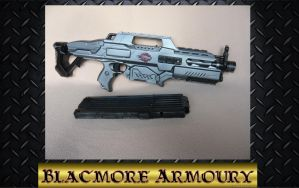 Nerf Rapidstrike with a black mag by Blackmore-Armoury