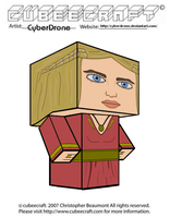 Cubeecraft - Cersei Lannister by CyberDrone