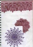 mandalas and border by MadamStephana
