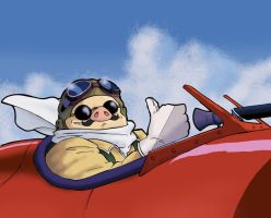 Porco Rosso, the Pig that Flew. by dmbarnham