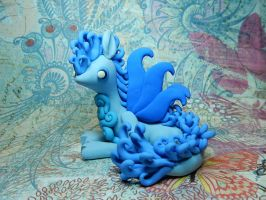 Blue Maned Dragon by Snowifer