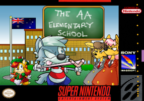 The AA Elementary School SNES Box (Front) by DannyFox-12-05-90