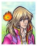 Howl and Calcifer by BlueUndine