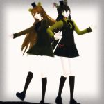Golden Sisters by MMDMotionsAndPoses
