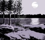 ByTheLake_night by DRAWBAK