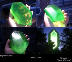 Large Green Rupee from LOZ by Minatek616
