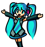 Miku Hatsune by theasyname