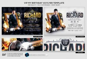 VIP My Birthday V2 Flyer Template by ranvx54