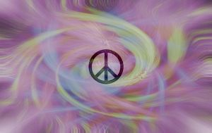 Peace Tie Dye Wallpaper by MikeVarilek