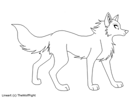 Free Lineart by TheWolfFight