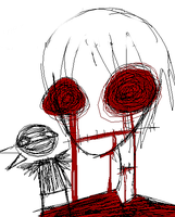 Your eyes are just scribbles by Rotting-Corpses