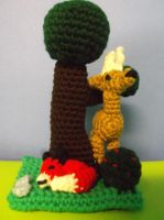 Crochet Forest Scenery with Amigurumi Animals by ShadowOrder7