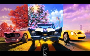 3 cartoon car by SaphireDesign