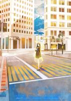 Station Story - crosswalk by kaninnvven