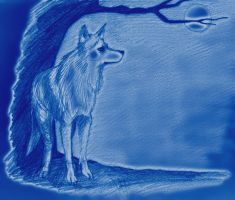 Blue Wolf Moon for Punkerbabe by Lovelyruthie