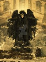 Fallen Angel Venice by babsartcreations