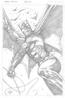 Batman Sketch Card by Carl-Riley-Art