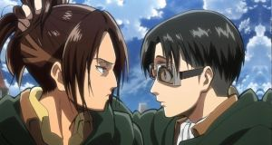 Attack on titan: Levi and Hanji face swap by Bakeneko14