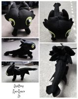 Chibi Nightfury plushie by Mad-March