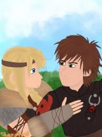 Hiccup and Astrid (HTTYD 2) by Valkyr1e-Cain