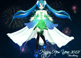 : MMD : Happy New Year by PuniPudding