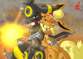 Two fighters by RipSpawn
