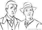 Jeeves and Wooster - coloring book page by rum-inspector