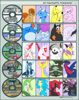 Pokemon Favorites Meme by Frost-Vixen