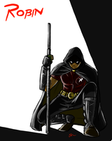 Robin of Arkham city by Noar03