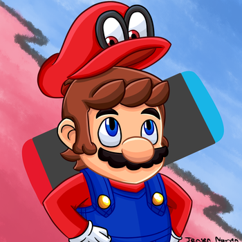 Super Mario Odyssey (Speedpaint included) by thegamingdrawer