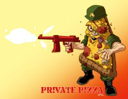 FoodFighters Private Pizza by dyemooch