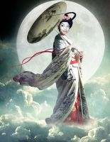Chang'e, Goddess of the Moon by violscraper