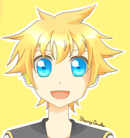 Kagamine Len by YoungDoodler