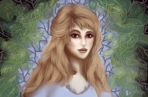 Girl With Leaves by thepurpleorchid1