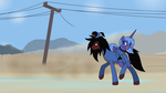 Luna and Alucard In Fallout by ArdonSword