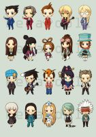 DO10: Ace Attorney Chibis by coriyu
